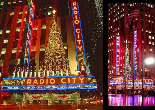 Christmas Tree Lights Creative Design Reflections